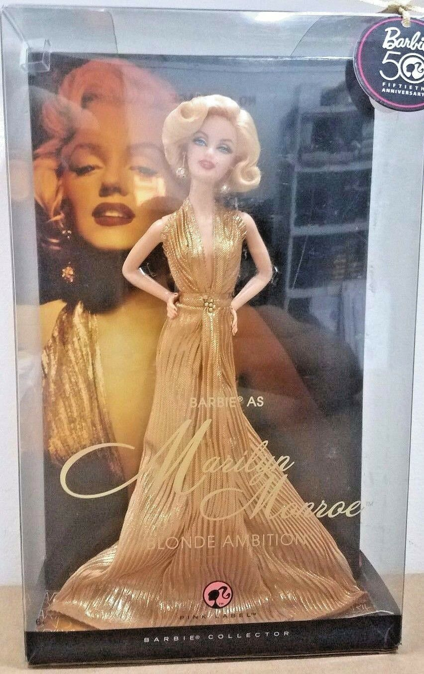 BARBIE MARILYN MONROE NRFB - Rosa LABEL new new new model muse doll collection Mattel e874ad