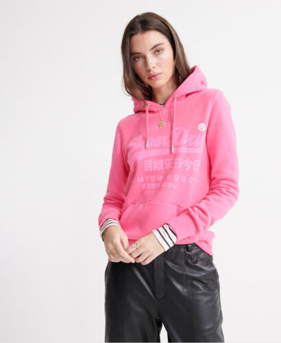 Superdry Damen Premium Goods Tonal Infill Hoodie