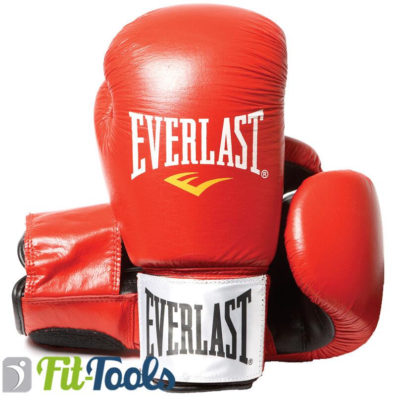 Everlast Leder Boxhandschuhe Fighter red, 10, 12, 14  oder 16 oz