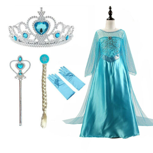 2020 Elsa Dresses For Girls Princess Anna Dress Elsa Costumes Party Cosplay Kids