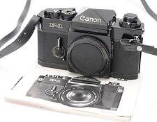 CANON F-1 F1 35MM FILM CAMERA BODY NO. 270851 w/ STRAP, INSTRUCTIONS EX+!