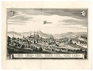 Pforzheim - Kupferstich von Merian 1643