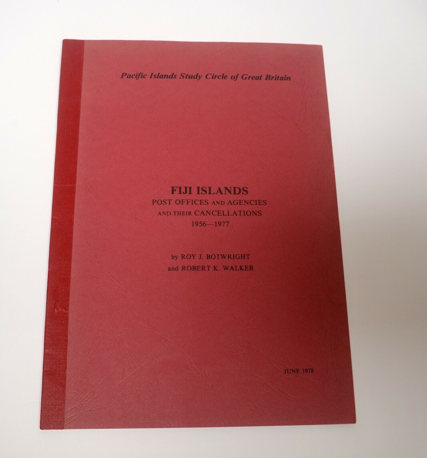 FIJI ISLANDS Post Offices Agencies Cancellations 1956-77 Catalog Philatelic Book