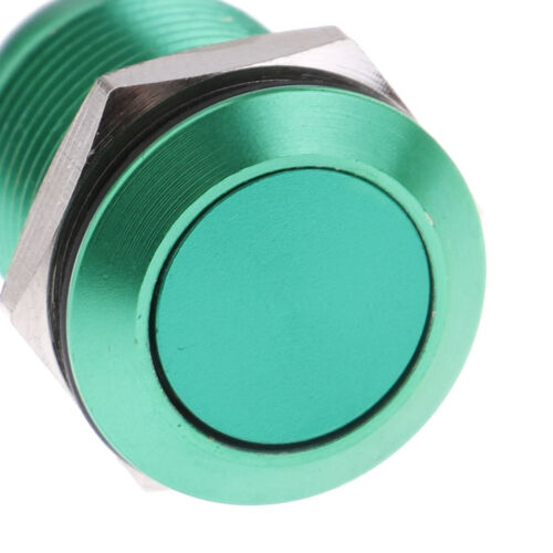 1Pc 2 Pins 12mm car computer waterproof momentary metal push button switch V P0