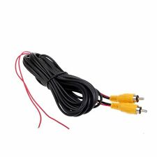 Cocar RCA Cable de extensión de video con contactos de Reversa gatillo Rojo Auto Coche Trasera