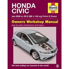 Honda Civic 1.4 1.8 Petrol 2.2 Diesel 2006-12 Haynes Workshop Manual