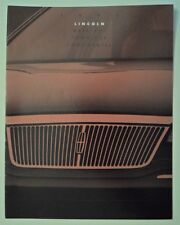 LINCOLN CONTINENTAL TOWN CAR & MARK VIII orig 1993 USA Mkt Sales Brochure