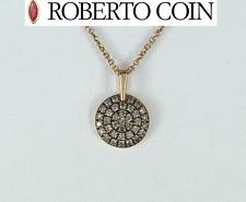 $1,300 Roberto Coin 18k Rose Gold Fantasia Cognac Diamond Ruby Pendant Necklace