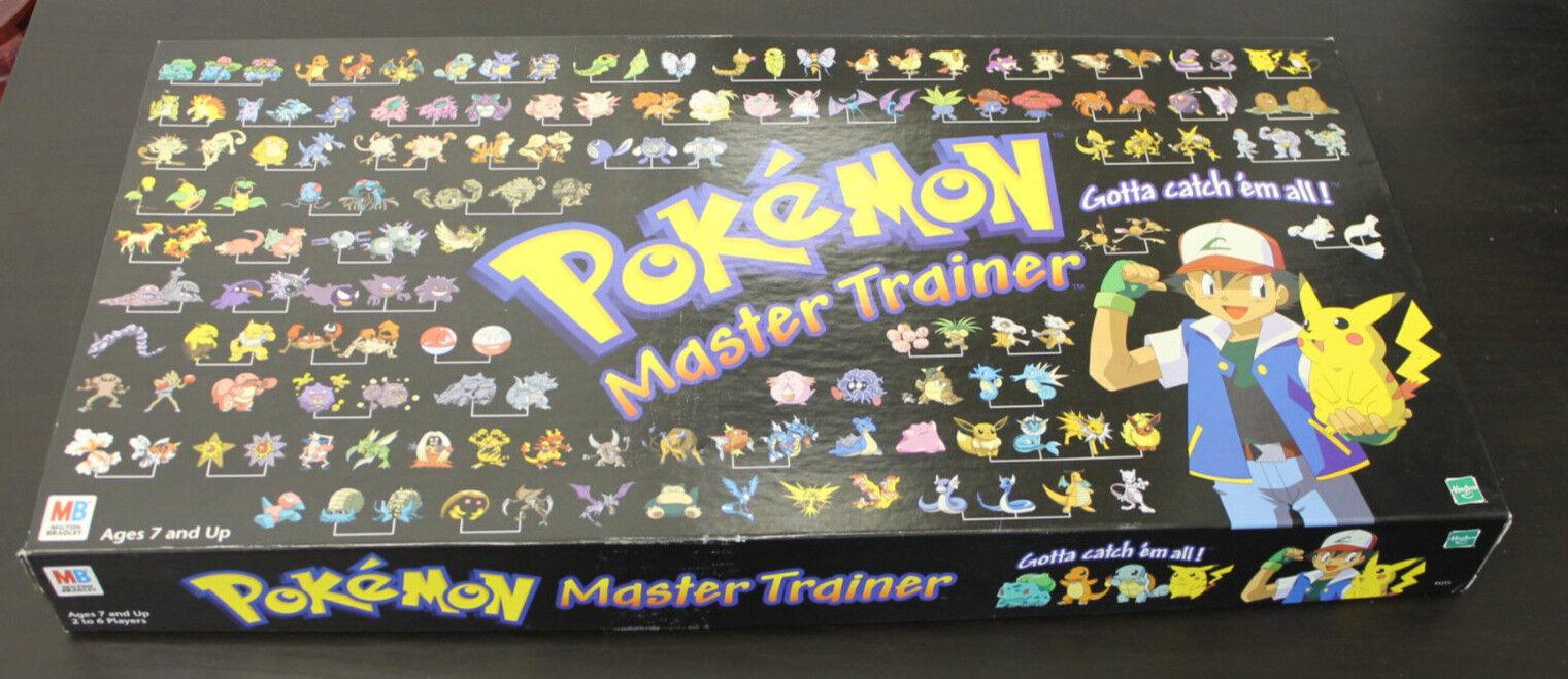 Rare Rare Rare 1999 POKEMON Master Trainer Board Game 100% Complete b03dde