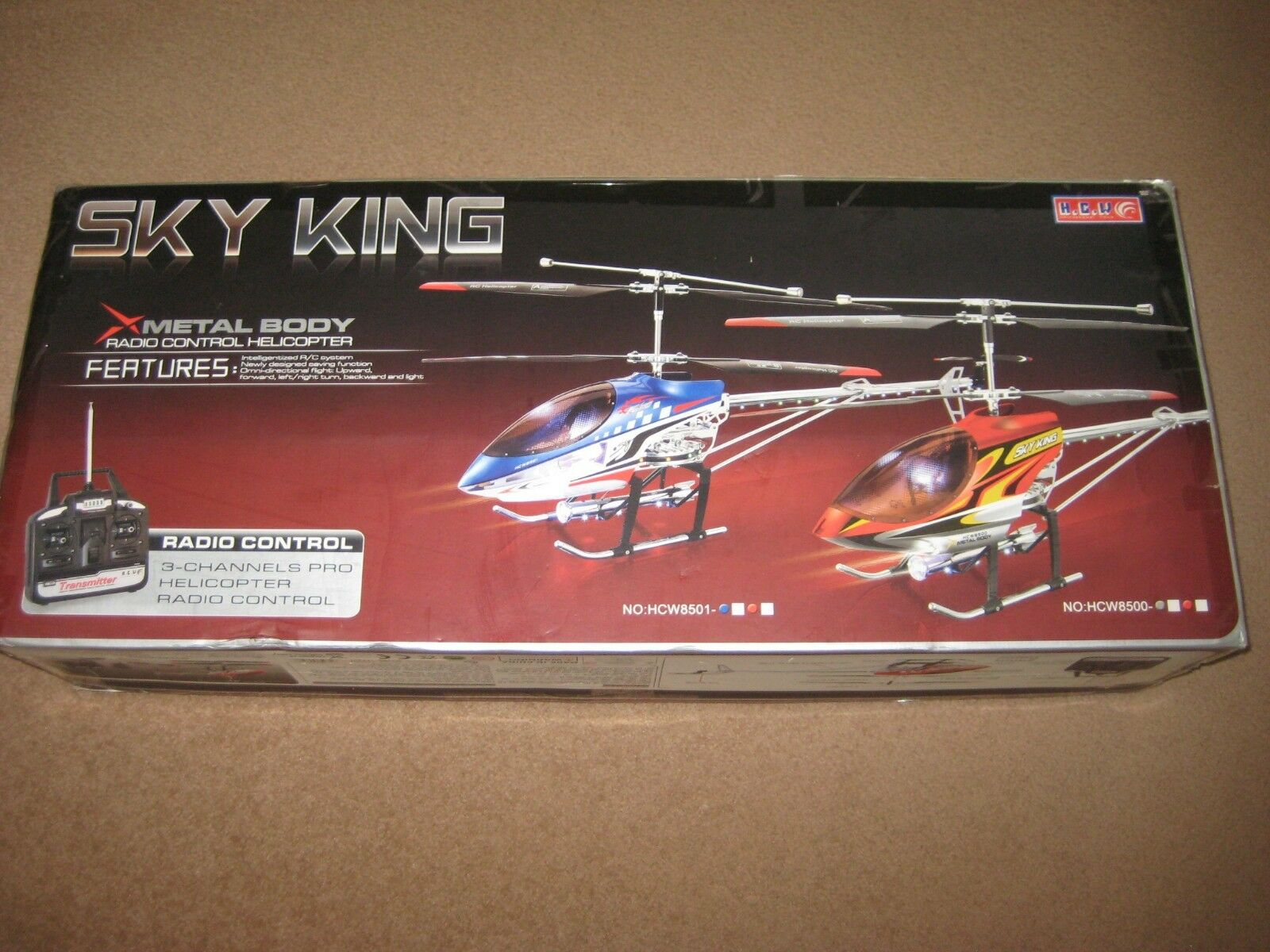 RC SKY KING HCW 8500 8501 PARTS TRANSMITTER 27.145Mhz 27.145Mhz 27.145Mhz SPARE PARTS 0b7701