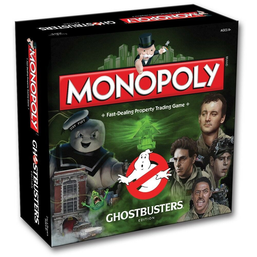 GHOSTBUSTERS - Monopoly Ghostbusters Edition Board Game (Winning Moves)  NEW