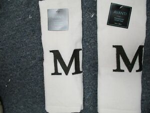 Details about TWO EMBROIDERED MONOGRAM KITCHEN TOWEL--LETTER M BY AVANTI  LINENS BRAND NEW