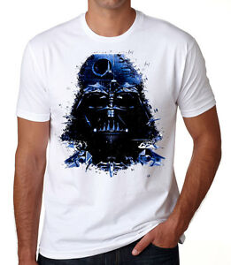 Darth-Vader-Space-Face-T-shirt-STAR-WARS-Themed-Death-Star-White-T-shirt