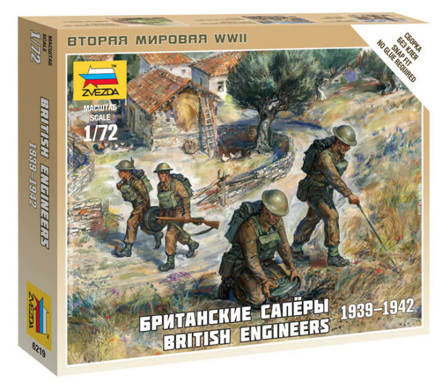 Zvezda #6219-1:72  British engineers 1939-1942