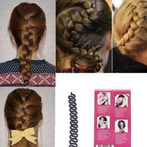 2X-Cheveux-Braid-Tressage-Queue-Braider-Twist-Outil-Cheveux-Francais-Bun-Maker
