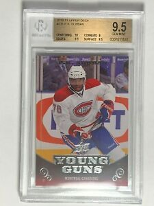 2010-11-P-K-PK-Subban-Upper-Deck-Young-Guns-231-Rookie-RC-Card-BGS-9-5-GEM