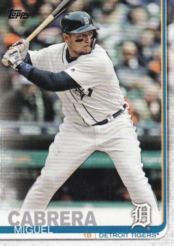 2019 topps baseball Cox #230 Miguel Cabrera