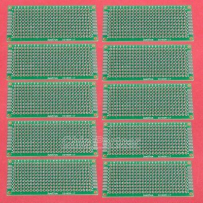 10pcs  3x7cm 1.6mm DIY Prototype Paper PCB Universal Double Side Board PCB Board