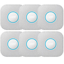 Google Nest Protect Smoke and CO Alarm Battery 3-Pack White Pack of 2 (S3006WBUS