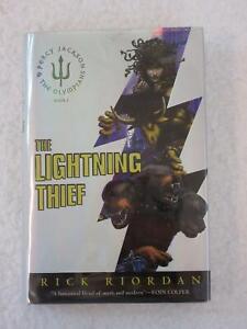 Rick-Riordan-THE-LIGHTNING-THIEF-2005-Miramax-Books-NY-1st-Printing-HC-DJ