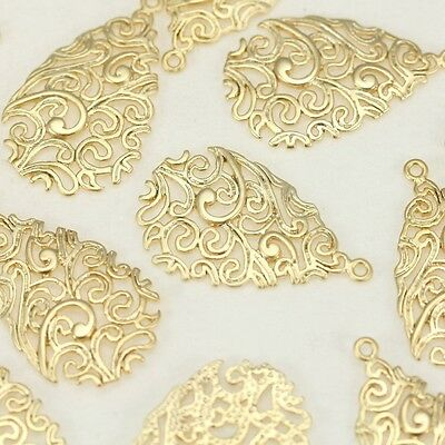 Filigree Metal Beads Connector for earrings necklace jewelry making supply #70
