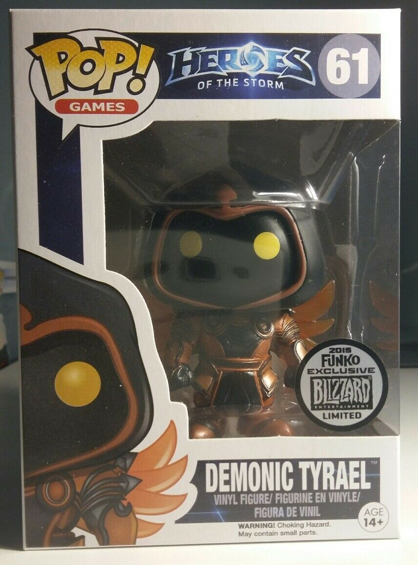 NIB Funko Pop   61 DEMONIC TYRAEL Blizzcon 2015 Heroes of the Storm Blizzard