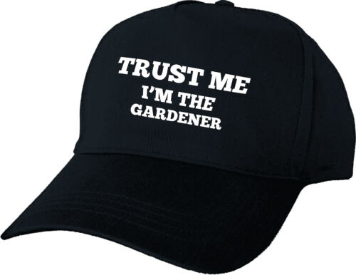 TRUST ME I/'M THE GARDENER PERSONALISED BASEBALL CAP GIFT BIRTHDAY