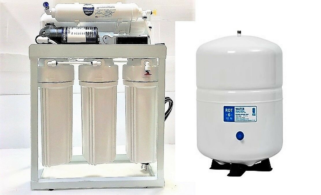 Light Commercial Reverse Osmosis Water Filter System 300 GPD w booster pump 110V