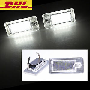 LED-Kennzeichen-Beleuchtung-Audi-A4-8E-B6-B7-A3-8P-A6-4F-Q7-keine-Fehlermeldung