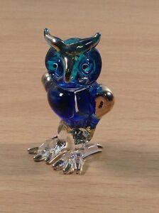 TINY-CRYSTAL-OWL-HAND-BLOWN-CLEAR-GLASS-ART-OWL-FIGURINE-ANIMAL-COLLECTION