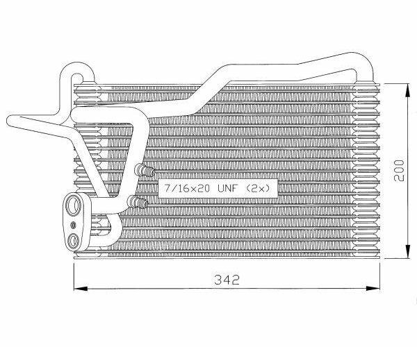 Evaporador Climático Vaporizador Aire Acondicionado Audi 80 86- NRF 36035