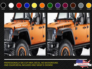 Jeep wrangler hood stripes side vinyl decal stickers any colors