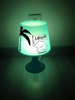 Elephant lampe de chevet enfant personnalisée cadeau naissance anniversaire