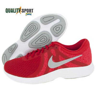 Nike Revolution 4 EU Rosso Scarpe Uomo Sportive Running Palestra AJ3490 601  2019 4ca75d24ffa