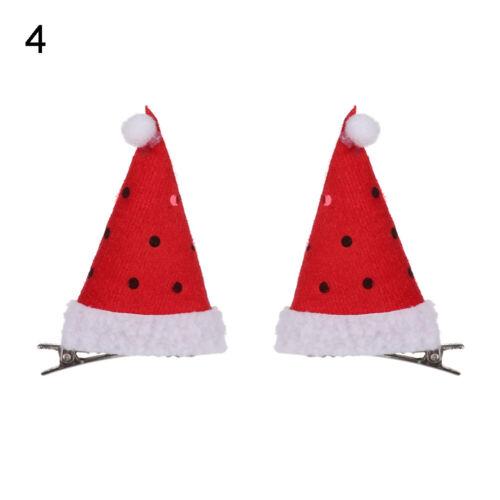 Xmas Hat Shape Sequin BB Clips Antlers Headdress Hair Clip Christmas Ornament