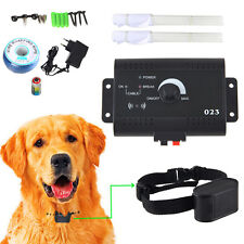 Underground Dog Electric Shock Pet Collar Fence Fencing System Waterproof