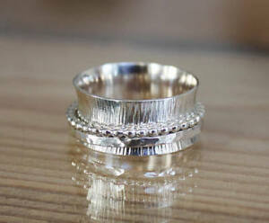 Solis-925-Sterling-Silver-Wide-Band-Meditation-Ring-Spinner-All-Size-Handmade