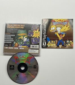 Simpsons-Wrestling-Sony-PlayStation-1-2001-Black-Label-COMPLETE-PS1