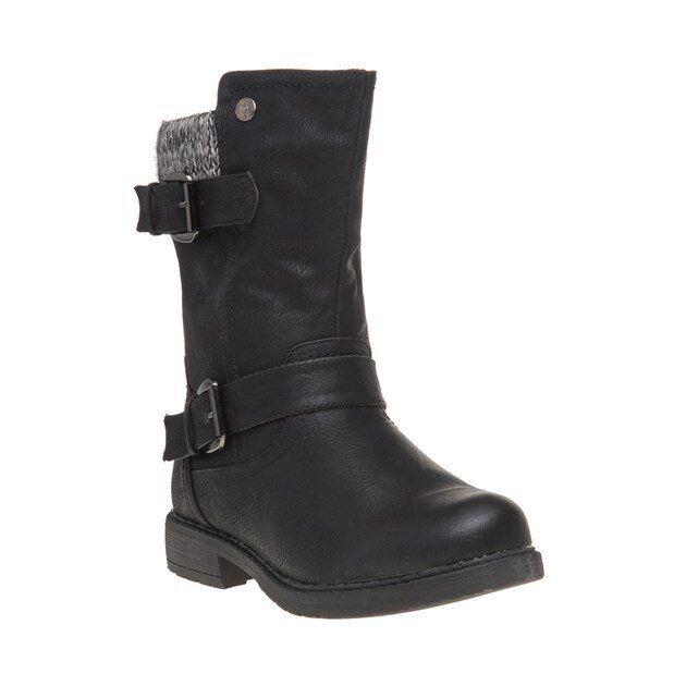 Nuevas botas para mujer mujer mujer Lotus Negro Farrin PU Tobillo Cremallera  promociones