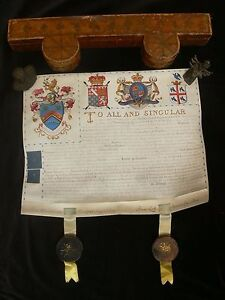 1795-Grant-of-Arms-to-James-Shotter-of-Farnham-Surrey