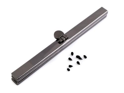Pieza en bruto bolsillos marco 15 cm Dark negro marco para monederos con tornillos