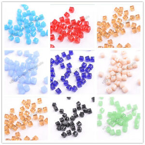 4MM-6MM-8MM-Cube-Square-Faceted-Rondelle-Crystal-Glass-Loose-Spacer-Beads