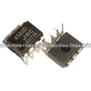 5 PCS NJM4580D JRC4580D JRC 4580D DIP-8 CHIP IC NEW