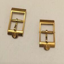 Genuine Vintage Omega 10 mm Gold Played Buckle 16