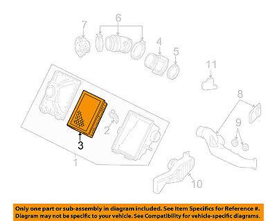 Ford OEM Filtro De Ar Do Motor-elemento F5OZ9601BA