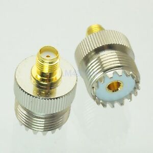 1pce-Adapter-SO239-UHF-female-jack-to-SMA-female-RF-connector-straight