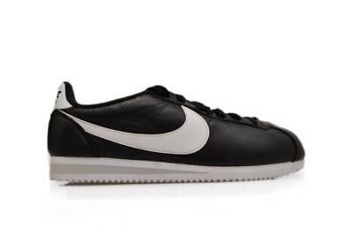 low priced 26840 7c763 Juniors Nike Classic Cortez Premium - 807480 010 - Black White Trainers |  eBay