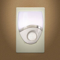 Night Light Led Plug In, Motion Sensor, White & Nickel on Sale