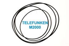 SET CINGHIE TELEFUNKEN M 2000 REGISTRATORE A BOBINE BOBINA NUOVE FRESCHE M2000
