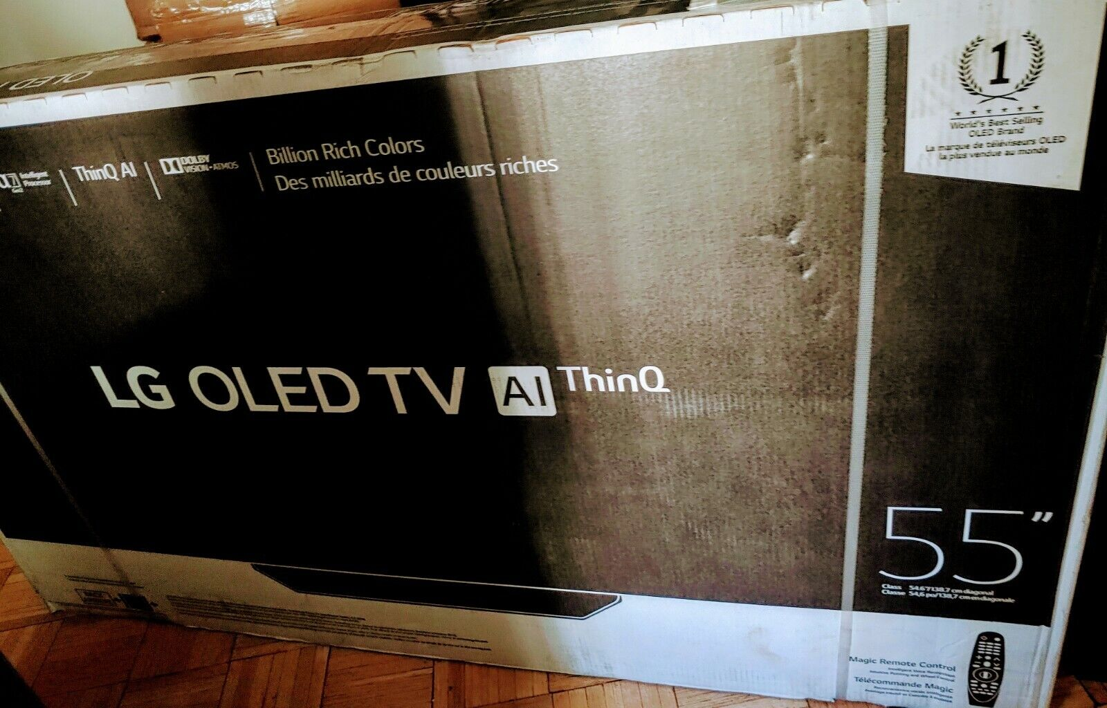 LG 55 OLED55B9PUA WebOs 4K OLED TV BRAND NEW!!!. Available Now for 1000.00